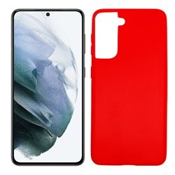 Funda roja para Samsung Galaxy S21 de silicona