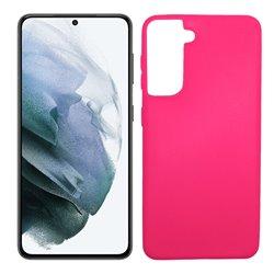 Funda rosa para Samsung Galaxy S21 de silicona