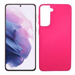 Funda rosa para Samsung Galaxy S21 Plus de silicona