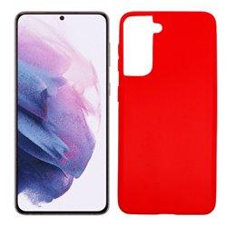 Funda roja para Samsung Galaxy S21 Plus de silicona