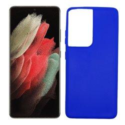 Funda azul para Samsung Galaxy S21 Ultra de silicona
