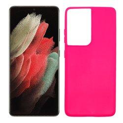 Funda rosa para Samsung Galaxy S21 Ultra de silicona