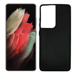 Funda negra para Samsung Galaxy S21 Ultra de silicona