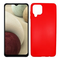 Funda roja para Samsung Galaxy A12 de silicona