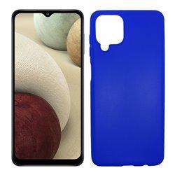 Funda azul para Samsung Galaxy A12 de silicona