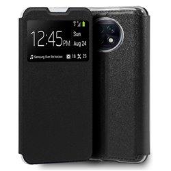 Funda con Tapa y Ventana para Xiaomi Redmi Note 9T negro