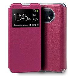 Funda con Tapa y Ventana para Xiaomi Redmi Note 9T rosa