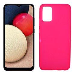 Funda rosa para Samsung Galaxy A02S de silicona