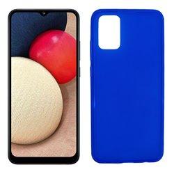 Funda azul para Samsung Galaxy A02S de silicona