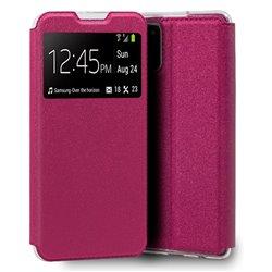 Funda con Tapa y Ventana para Samsung Galaxy A02S rosa
