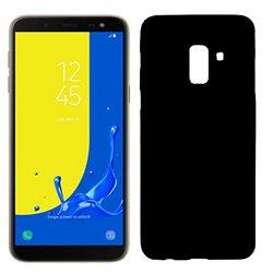 Funda de silicona mate lisa para Samsung Galaxy J6 2018 Negro