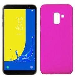 Funda de silicona mate lisa para Samsung Galaxy J6 2018 Rosa