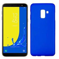 Funda de silicona mate lisa para Samsung Galaxy J6 2018 Azul