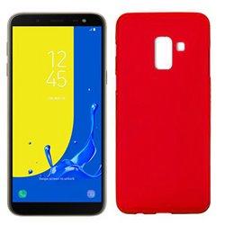Funda de silicona mate lisa para Samsung Galaxy J6 2018 Rojo