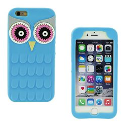 Funda 3D de Silicona Animal Buho Azul para Iphone 6 Plus / 6S Plus