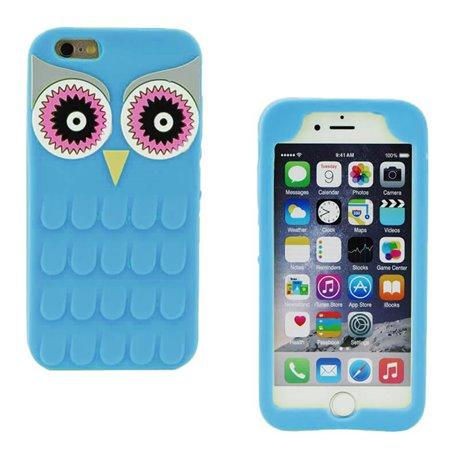 Funda 3D de Silicona Animal Buho Azul para Iphone 6 Plus / 6S Plus