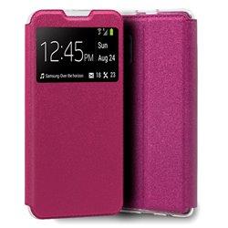Funda con Tapa y Ventana para Samsung Galaxy A32 5G rosa