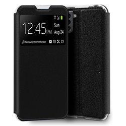 Funda con Tapa y Ventana para Samsung Galaxy S21 negro
