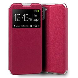 Funda con Tapa y Ventana para Samsung Galaxy S21 rosa