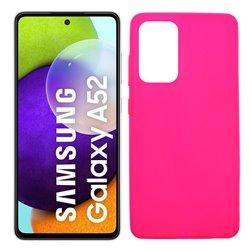Funda rosa para Samsung Galaxy A52 / A52 5G de silicona