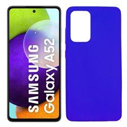 Funda azul para Samsung Galaxy A52 / A52 5G de silicona