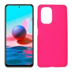 Funda rosa para Xiaomi Redmi Note 10 de silicona