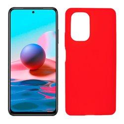 Funda roja para Xiaomi Redmi Note 10 de silicona