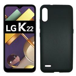 Funda negra para LG K22 de silicona