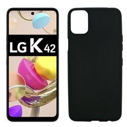 Funda negra para LG K42 de silicona