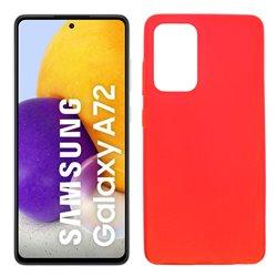 Funda roja para Samsung Galaxy A72 5G de silicona