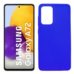 Funda azul para Samsung Galaxy A72 5G de silicona