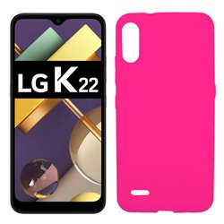 Funda rosa para LG K22 de silicona