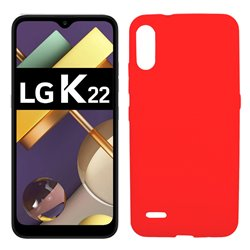 Funda roja para LG K22 de silicona