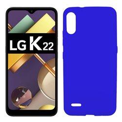 Funda azul para LG K22 de silicona