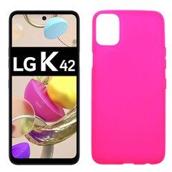 Funda rosa para LG K42 de silicona
