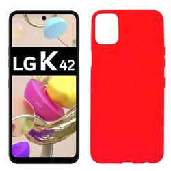 Funda roja para LG K42 de silicona