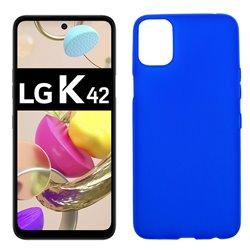 Funda azul para LG K42 de silicona