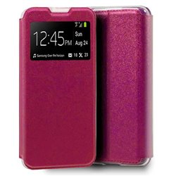 Funda con tapa y ventana para LG K42 Rosa