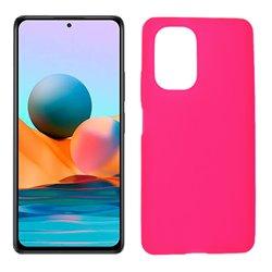 Funda rosa para Xiaomi Redmi Note 10 Pro de silicona