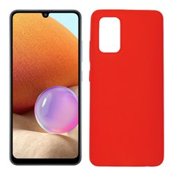 Funda roja para Samsung Galaxy A32 4G de silicona