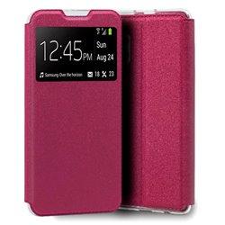 Funda con Tapa y Ventana para Samsung Galaxy A32 4G rosa