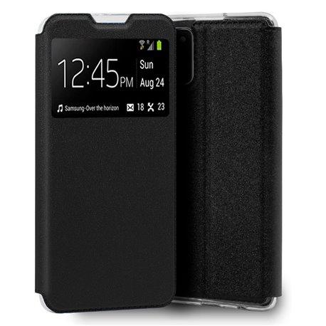 Funda con Tapa y Ventana para Samsung Galaxy A02S negro