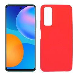 Funda roja de silicona para Huawei P Smart 2021