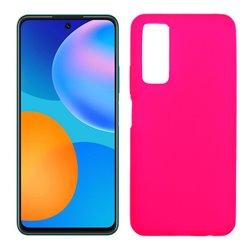 Funda rosa para Huawei P Smart 2021 de silicona