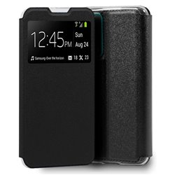 Funda con tapa y ventana para Huawei P Smart 2021 Negro