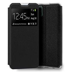 Funda con Tapa y Ventana para Samsung Galaxy A22 5G negro