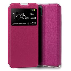 Funda con Tapa y Ventana para Samsung Galaxy A22 5G rosa