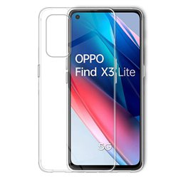 Funda transparente para Oppo Find X3 Lite 5G / Reno5 5G de silicona