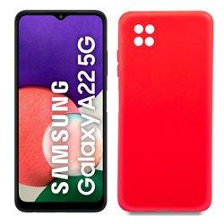 Funda roja para Samsung Galaxy A22 5G de silicona