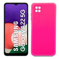 Funda rosa para Samsung Galaxy A22 5G de silicona